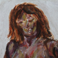 Acrylic painting of a woman